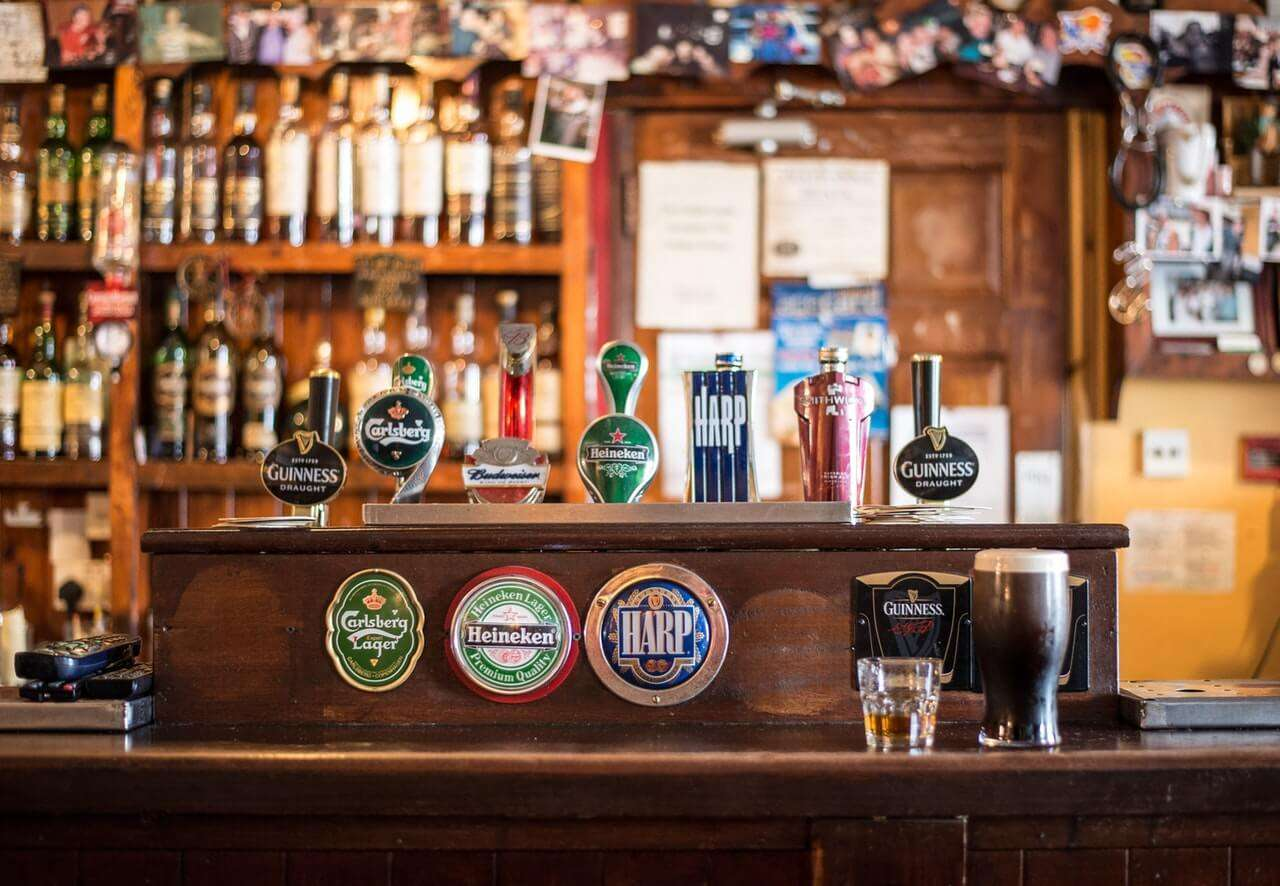 local beer bar in ireland