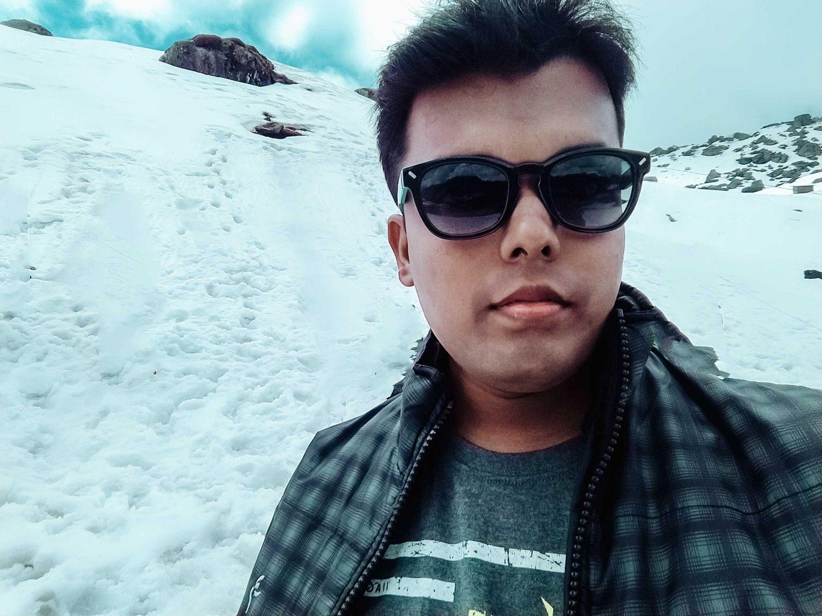 Pranav Das at Nathu La,Gangtok
